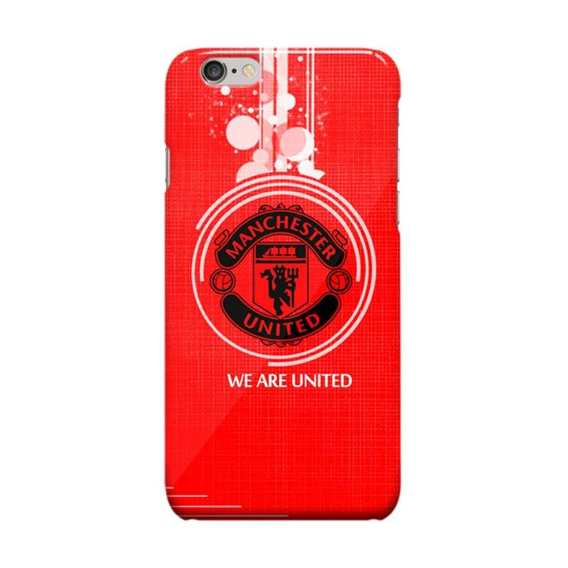 Indocustomcase Menchester United Logo MANU01 Casing for Apple iPhone 6 Plus or 6S Plus