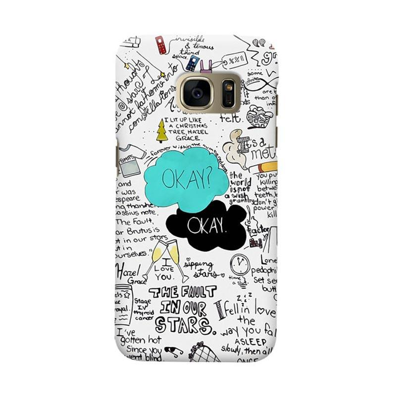 Indocustomcase The Fault In Our Star Okay Cover Casing for Samsung Galaxy S6 Edge