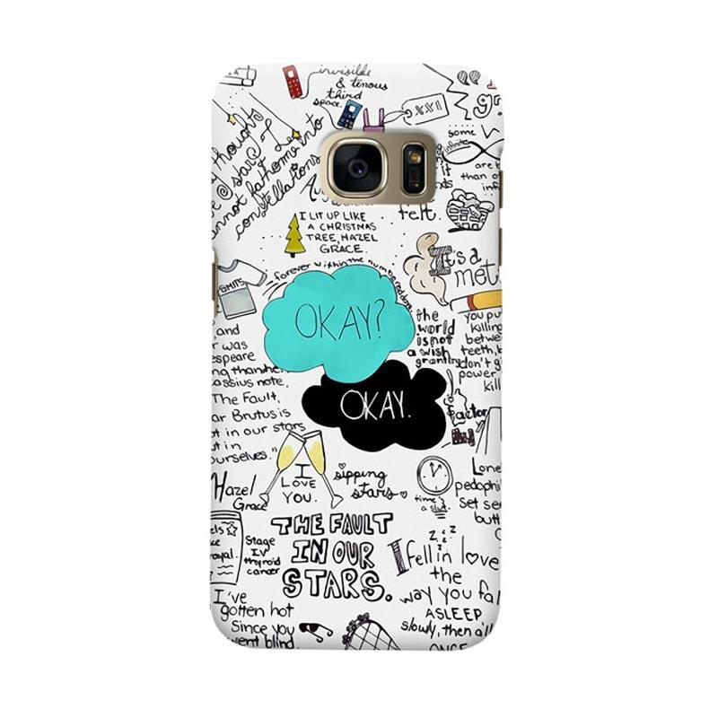 Indocustomcase The Fault In Our Star Okay Cover Casing for Samsung Galaxy S7 Edge