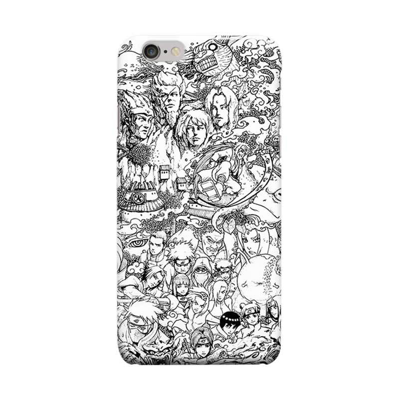 Indocustomcase Anime Naruto Series ID02 Cover Casing for Apple iPhone 6 Plus or 6S Plus