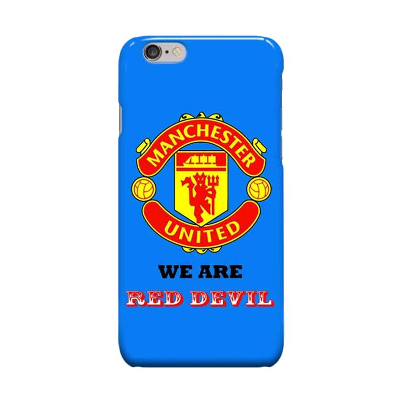 Indocustomcase Menchester United Logo MANU05 Casing for Apple iPhone 6 Plus or 6S Plus