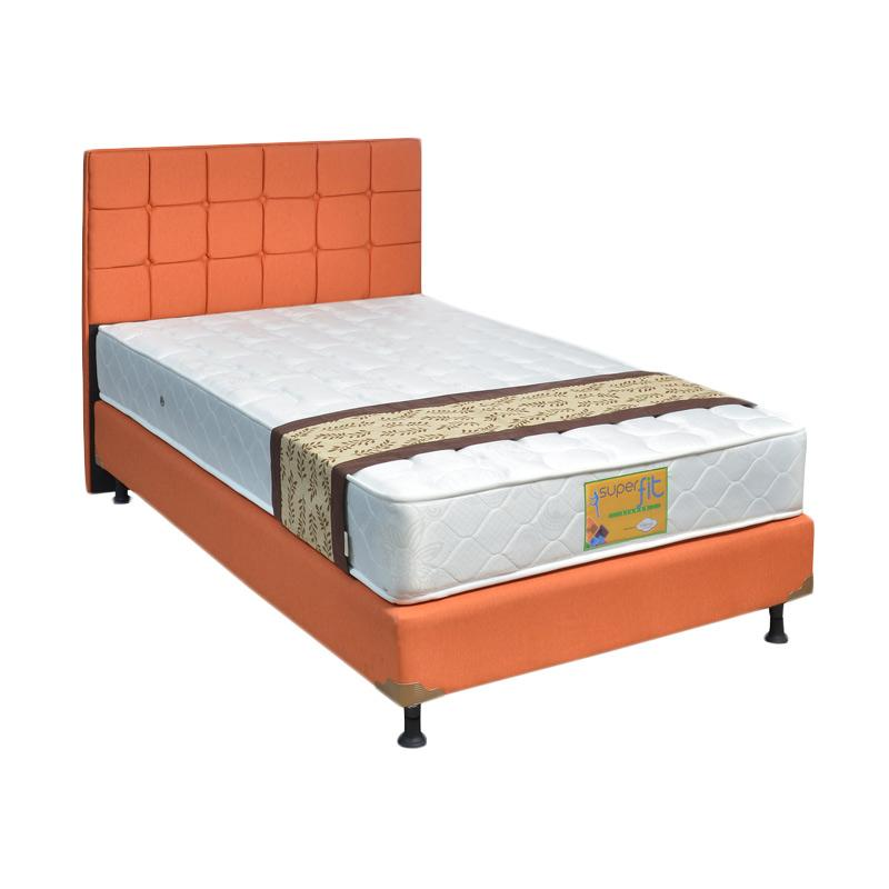 Comforta Superfit Gold Firm HB Sydney Fullset Springbeds - Sweet Orange [Khusus Jabodetabek]