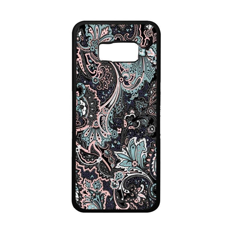 harga HEAVENCASE Motif Batik Bunga Unik 14 Softcase Bumper Casing for Samsung Galaxy S8 Plus - Hitam Blibli.com