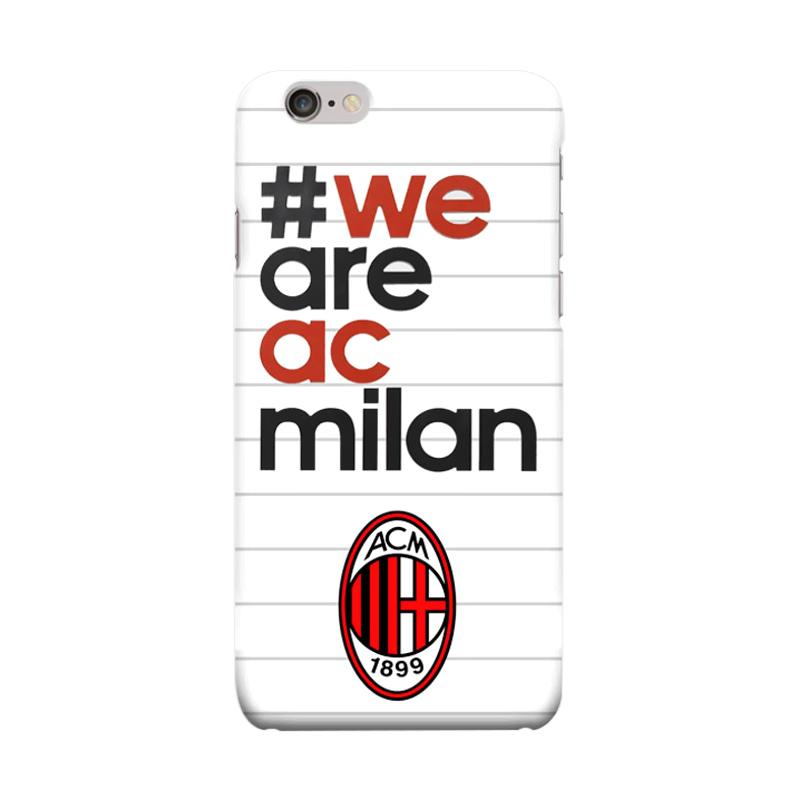 Indocustomcase AC Milan FC ACM01 We Are AC Milan Cover Casing for Apple iPhone 6 Plus or 6S Plus