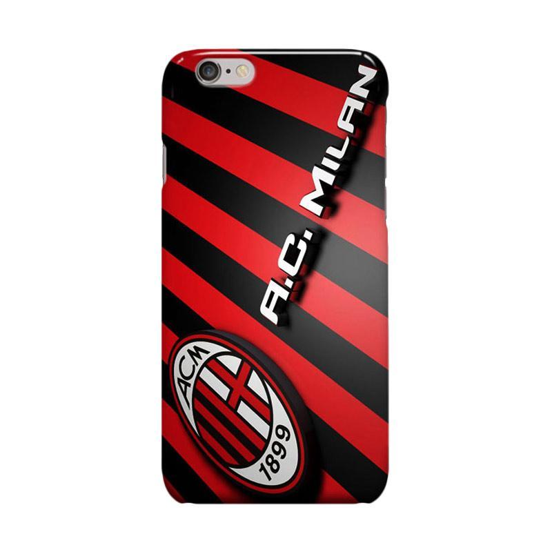 Indocustomcase AC Milan FC ACM05 We Are AC Milan Cover Casing for Apple iPhone 6 Plus or 6S Plus