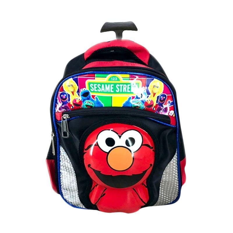 harga Bravery Sesame Street Elmo 3D Boneka Timbul Tas Troley Sekolah Anak Blibli.com