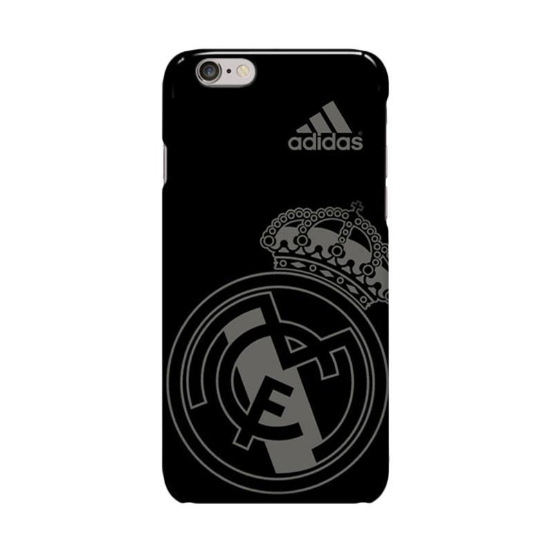 Indocustomcase Real Madrid Logo Adidas Casing for Apple iPhone 6 Plus or 6S Plus - Black