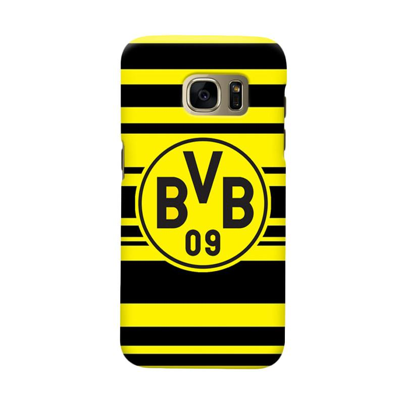 Indocustomcase BVB Borussia Dortmund Stripe Cover Casing for Samsung Galaxy S6