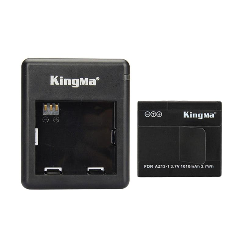 Kingma Combo Deluxe Set Battery Charger for Xiaomi Yi Action Camera - Hitam [1 Battery/1 Charger]
