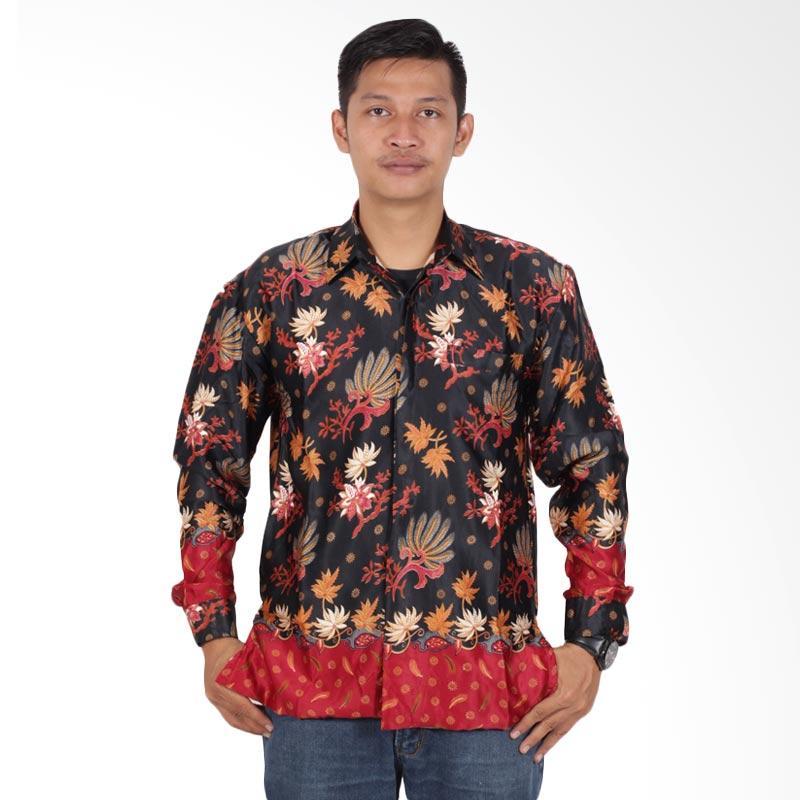 Jual Batik Putri Ayu Solo Semi Sutra Furing Kemeja Batik Pria