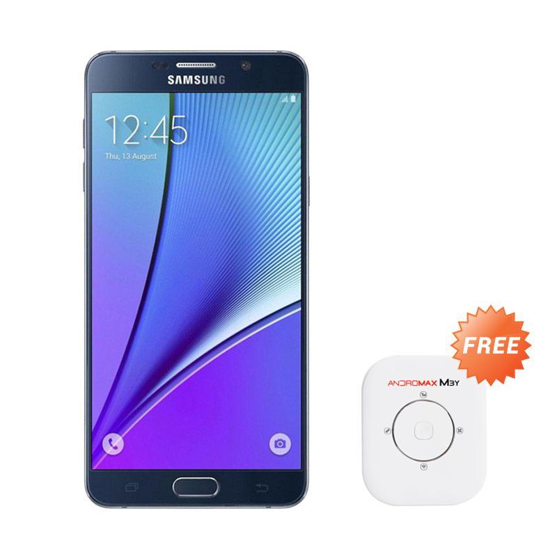 harga Samsung Galaxy Note 5 Smartphone - Black [32 GB/4 GB] + Free Smartfren Andromax M3Y 4G Modem MiFi - White [30 GB Data] Blibli.com