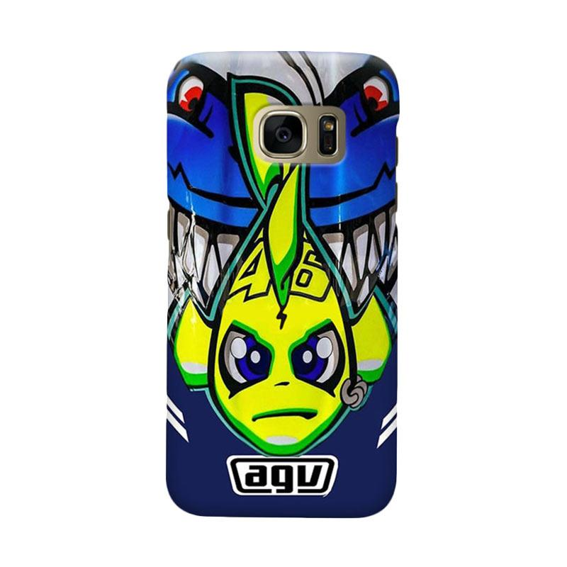 Indocustomcase Valentino Rossi AGV Via Via Cover Hardcase Casing for Samsung Galaxy S7 Edge