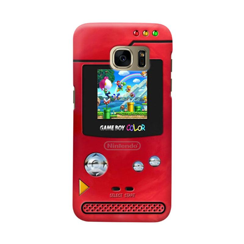 Indocustomcase Vintage Nintendo Red Game Boy Cover Hardcase Casing for Samsung Galaxy S7 Edge
