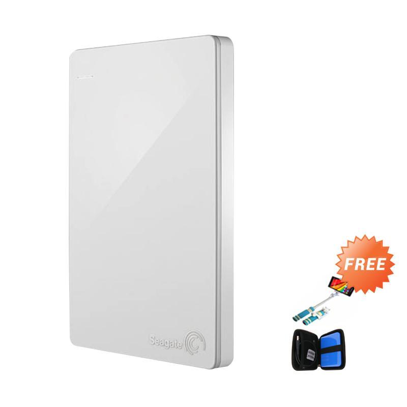 harga Seagate Backup Plus Slim Hardisk External - Putih [1 TB/ 2.5 Inch] + Free Softcase Harddisk + Tongsis Mini Blibli.com