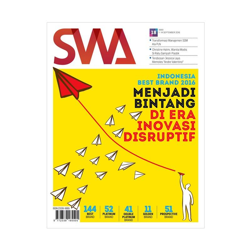 SWA edisi 18-2016 Indonesia Best Brand 2016 Menjadi Bintang Di Era Inovasi Disruptif Majalah [01 September - 14 September 2016]