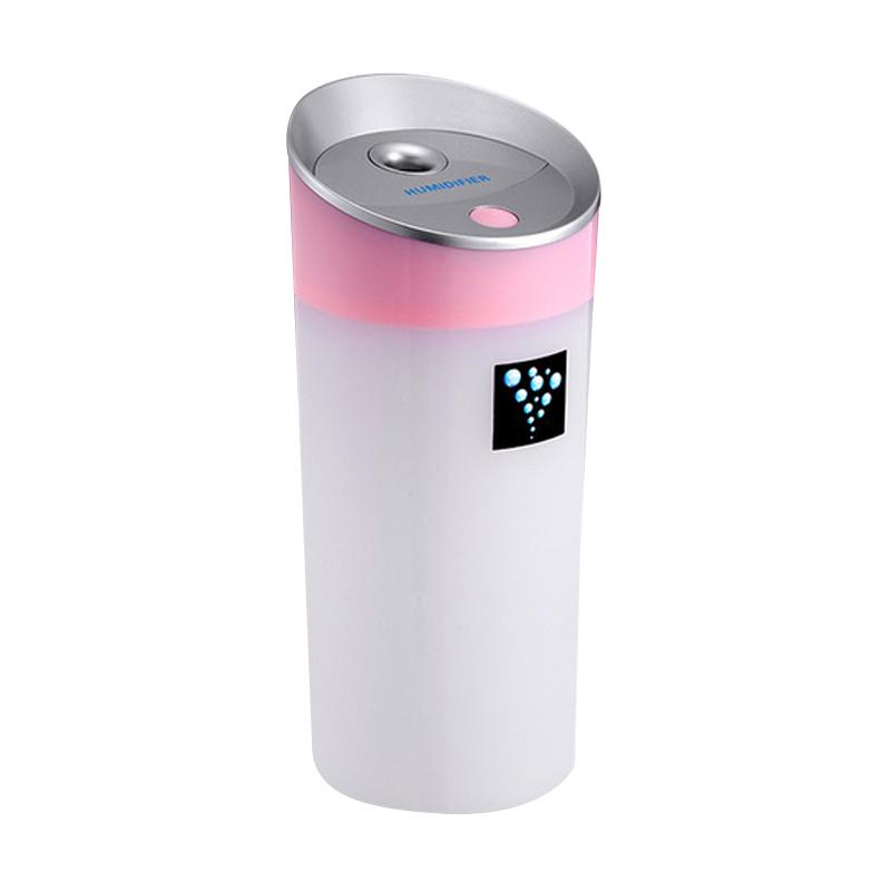 TOKUNIKU USB Anion Small-O Moisturizing Instrument Humidifier with LED Light - Pink [300 mL]