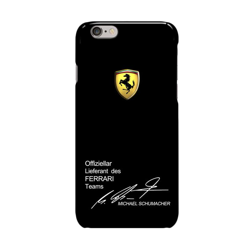Indocustomcase ferrari Team Michael Schumacher Cover Casing for Iphone 6 Plus or 6S Plus