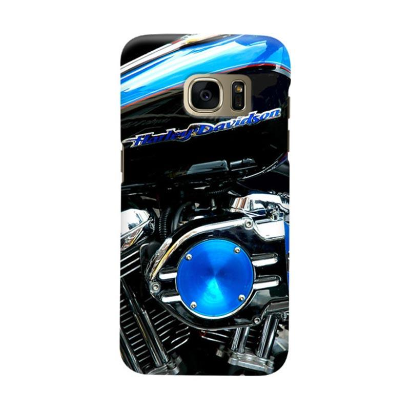Indocustomcase Harley Davidson Motorcycle Cover Casing for Samsung Galaxy S6 Edge