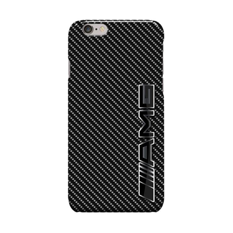 Indocustomcase Mercedes Benz AMG Logo On Carbon Cover Casing for iPhone 6 Plus or 6S Plus