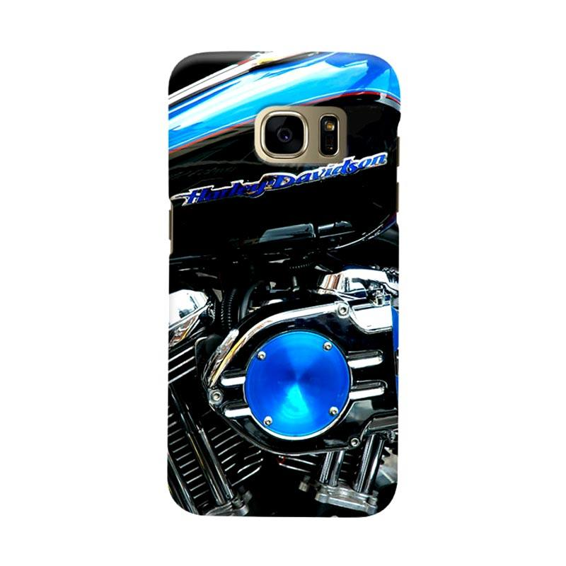 Indocustomcase Harley Davidson Motorcycle Cover Casing for Samsung Galaxy S7 Edge