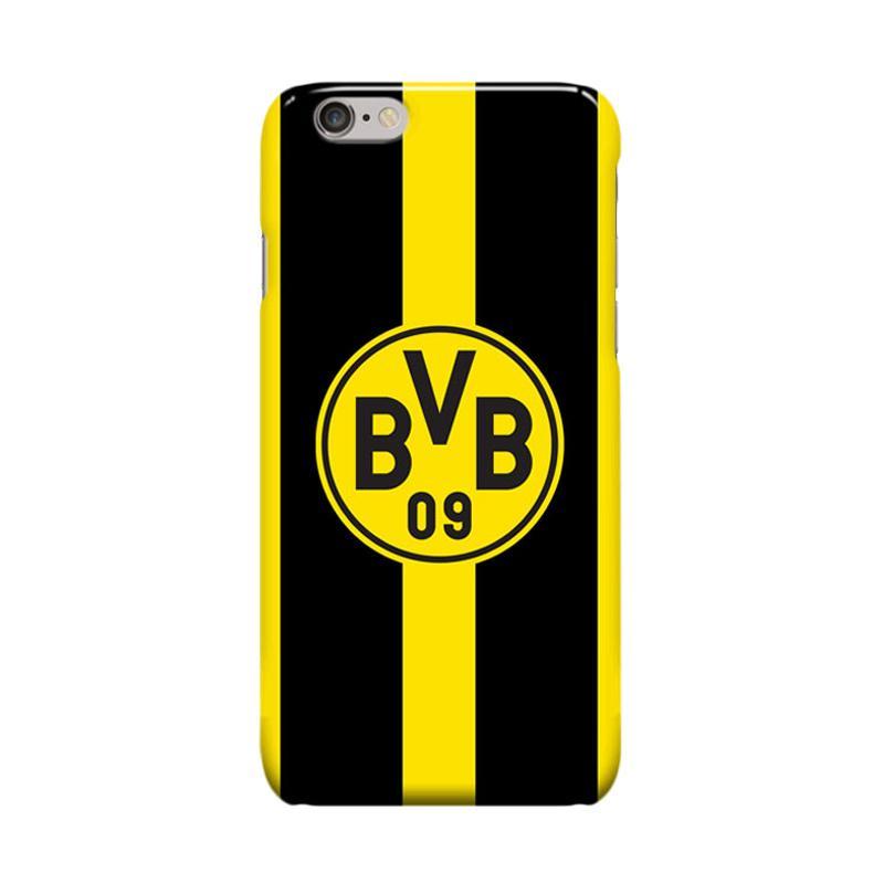 Indocustomcase BVB Borussia Dortmund Casing for Apple iPhone 6 Plus or iPhone 6S Plus