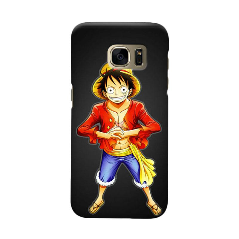 Indocustomcase Anime One Piece Character OP05 Luffy Cover Casing for Samsung Galaxy S7