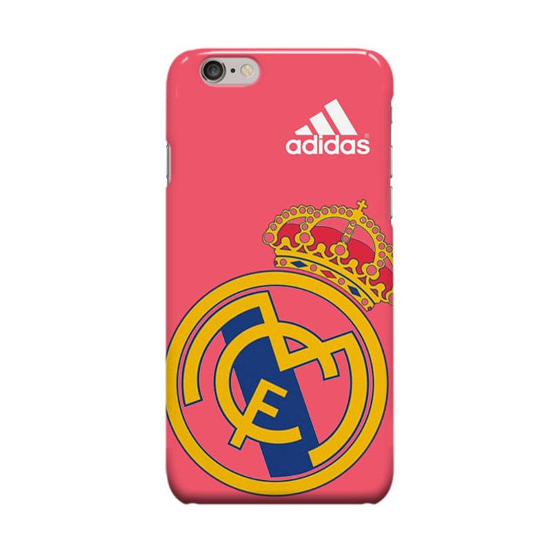 Indocustomcase Real Madrid Logo Adidas Casing for Apple iPhone 6 Plus or 6S Plus - Pink
