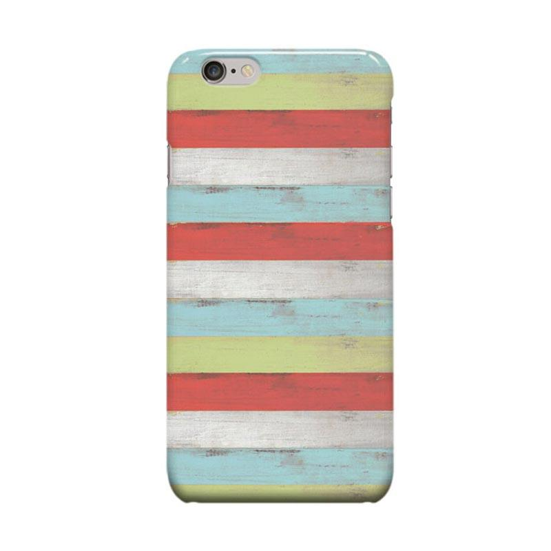 Indocustomcase Wood Weathered Stripes Cover Casing for Apple iPhone 6 Plus or 6S Plus