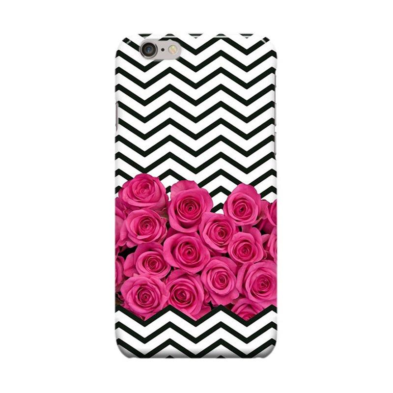 Indocustomcase Floral Chevron Stripes Cover Casing for Apple Iphone 6 Plus or 6S Plus