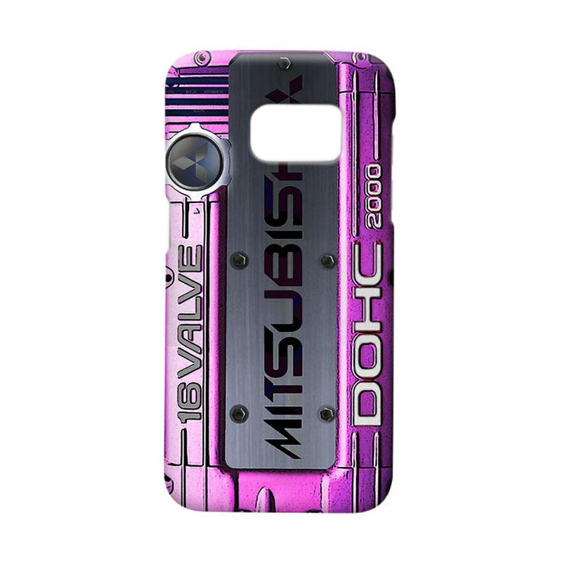Indocustomcase Mitsubishi Cover Engine Logo Cover Hardcase Casing for Samsung Galaxy S7 Edge