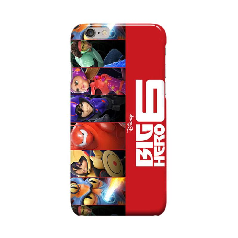 Indocustomcase Cartoon Disney Baymax Big Hero 6 Cover Casing for Apple iPhone 6 Plus or 6S Plus