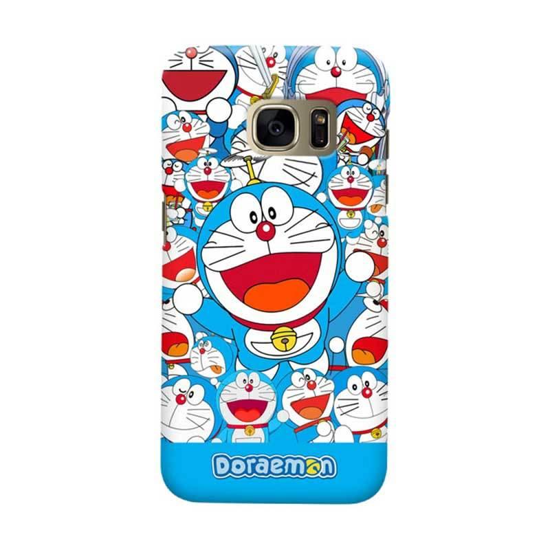 Indocustomcase Cartoon Doraemon Sticker Bomb Cover Casing for Samsung Galaxy S6 Edge