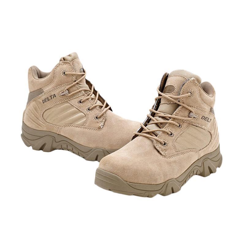 harga Delta Men's Desert Military Combat Boot Waterproof Ankle boots 6 inch Sepatu Pria - Transparent Khaki Blibli.com