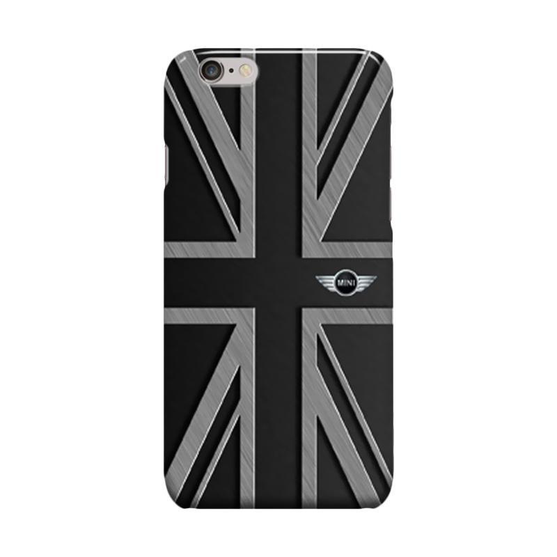Indocustomcase Mini Cooper Union Jack Cover Casing for Apple iPhone one 6 Plus or 6S Plus