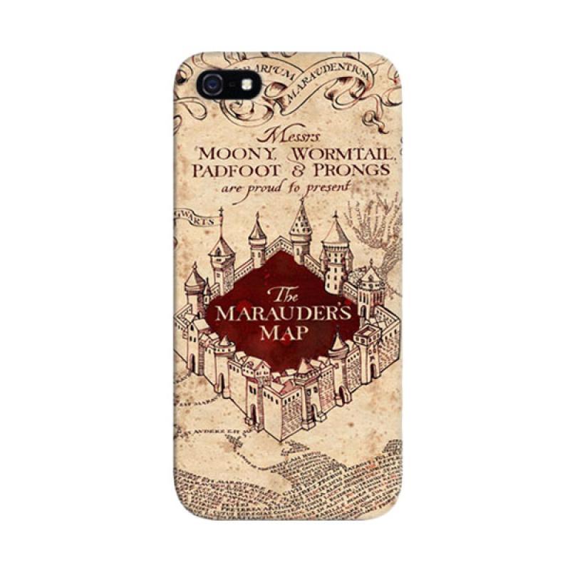 Indocustomcase Harry Potter Marauders Map Custom Hardcase Casing for Apple iPhone 5/5S/SE