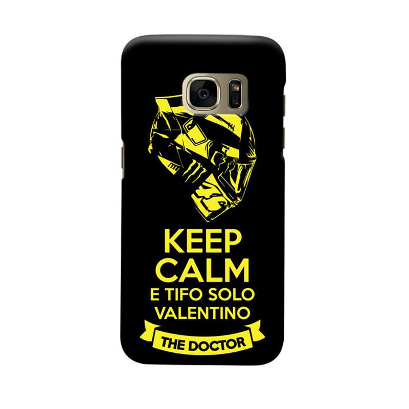 Indocustomcase Keep Calm E Tifo Solo Valentino Cover Casing for Samsung Galaxy S6 Edge