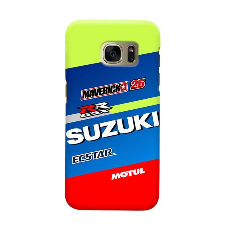 Indocustomcase Suzuki Ecstar Maverick Vinales 25 Cover Casing for Samsung Galaxy S6