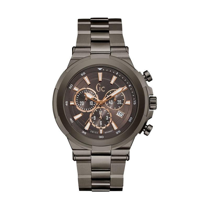 harga Guess Collection Gc Structura Chronograph Jam Tangan Pria Stainless Y23004G4 - Grey Brown Blibli.com