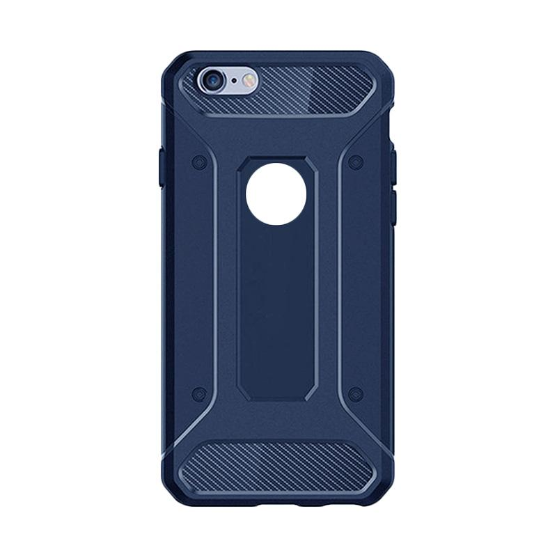 Spigen Rugged Capsule With Carbon Fiber Textures Backcase Casing for Apple iPhone7 or 7G 4.7 Inch - Dark Blue