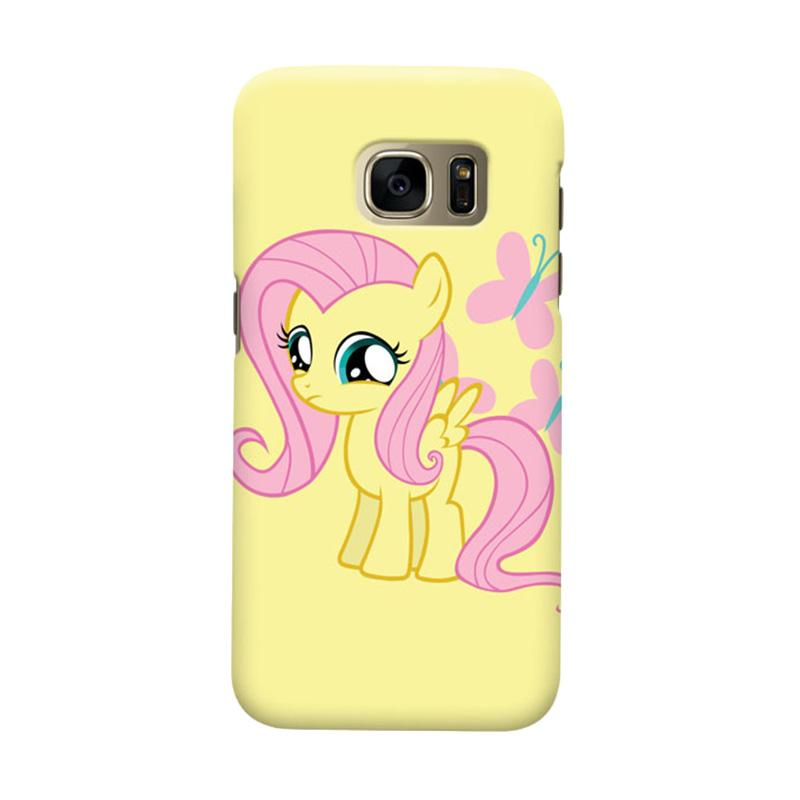 Indocustomcase Cartoon Little Pony Yellow Cover Casing for Samsung Galaxy S6 Edge