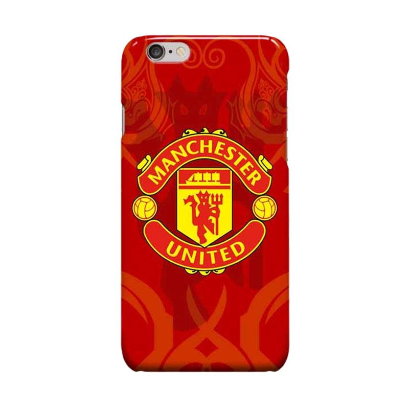 Indocustomcase Menchester United Logo MANU11 Case Casing for Apple iPhone 6 Plus or 6S Plus