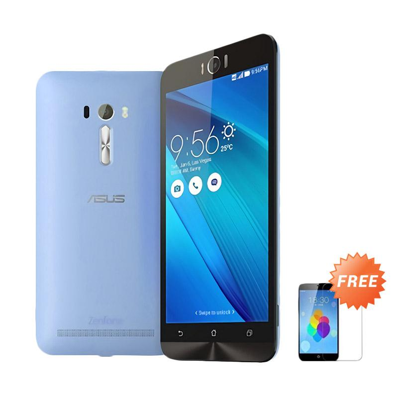 Ultrathin Aircase Casing for Asus Zenfone Laser 5 Inch - Blue Clear [Best Seller] + Free Tempered Glass