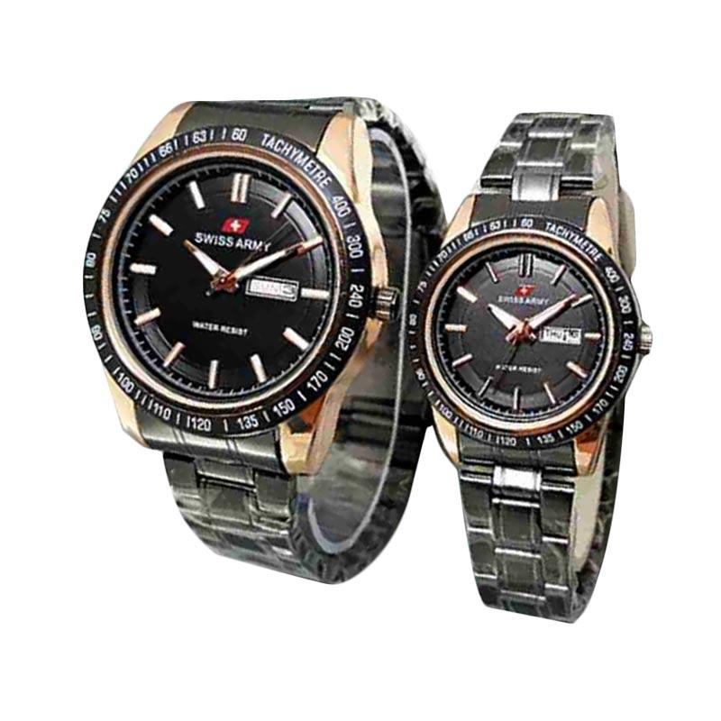 Swiss Army SA X-11081100BG Jam Tangan Couple - Hitam Gold