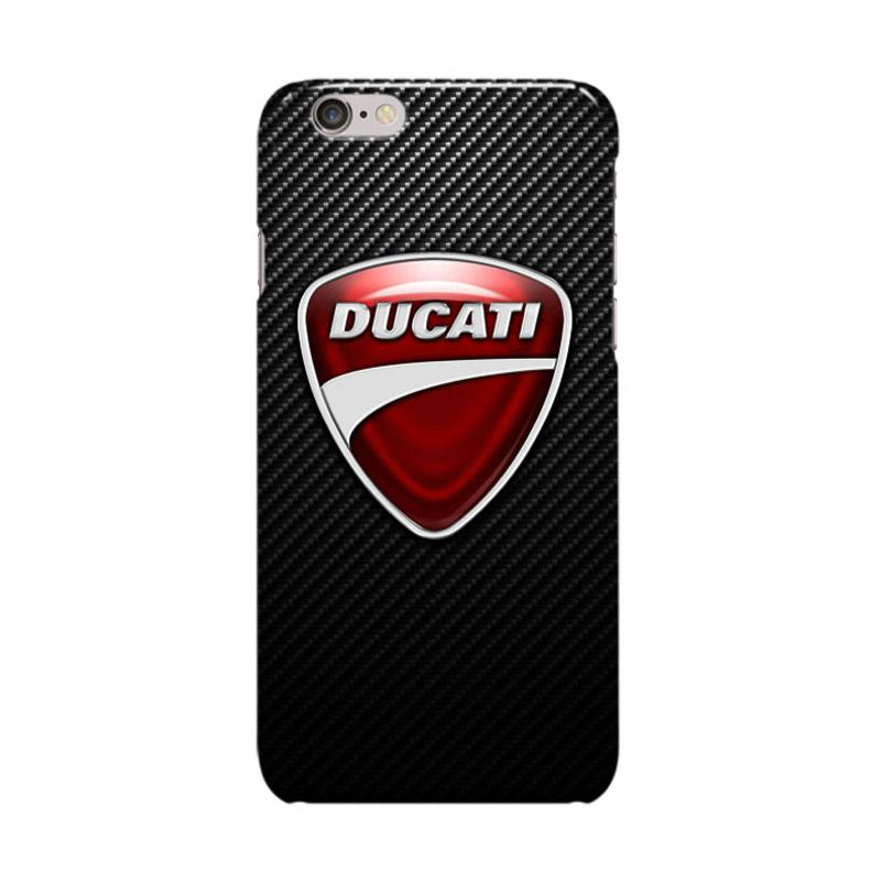 Indocustomcase Ducati Corse Logo On Carbon Cover Casing for Apple iPhone 6 Plus or 6S Plus