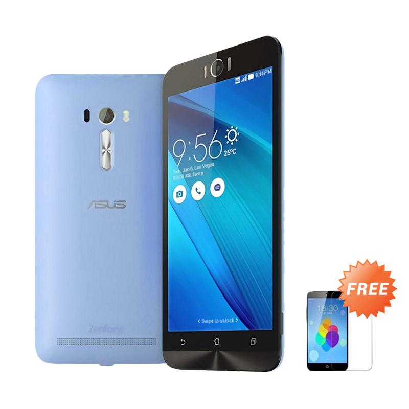 Ultrathin Aircase Casing for Asus Zenfone Laser 5.5 Inch - Blue Clear [Best Seller] + Free Tempered Glass