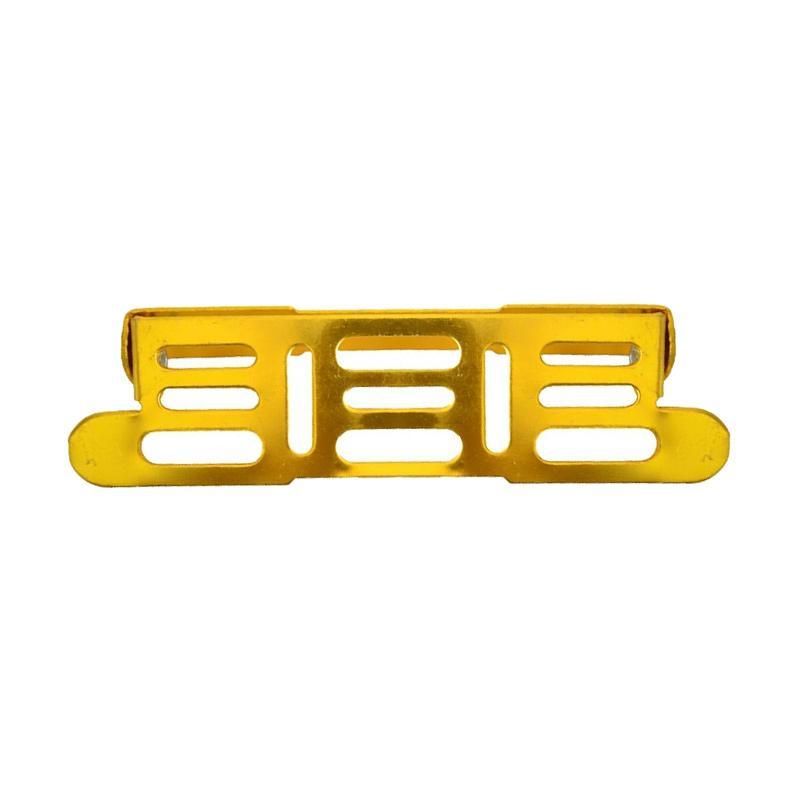Raja Motor Aksesoris Motor Dudukan Plat Nomor Besi Tiang Almunium Universal - Gold [TNO9002-Gold]