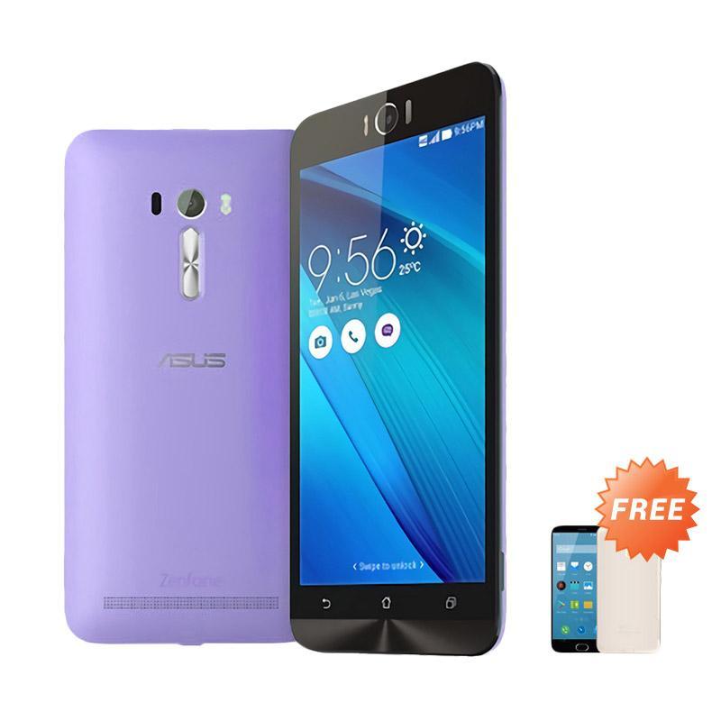Best Seller Aircase Ultrathin Casing for Asus Zenfone Laser 5.5 Inch - Purple Clear + Free Ultrathin