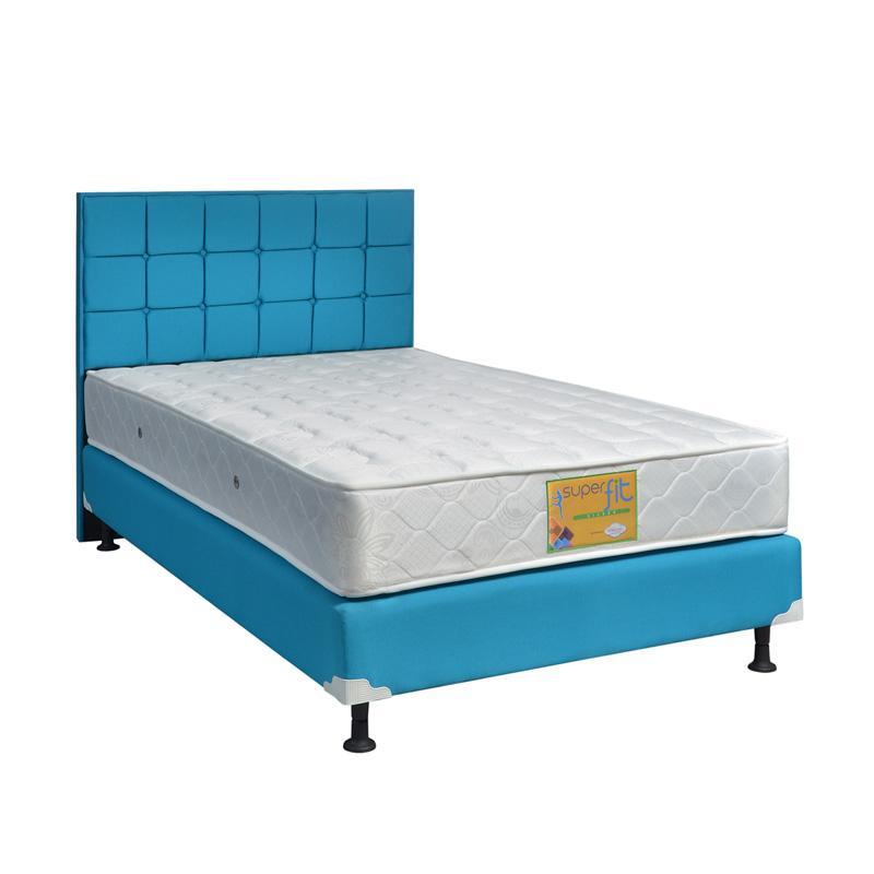 Comforta Superfit Silver Medium HB Sydney Set Springbed - Blue Ocean [Fullset /Khusus Jabodetabek]