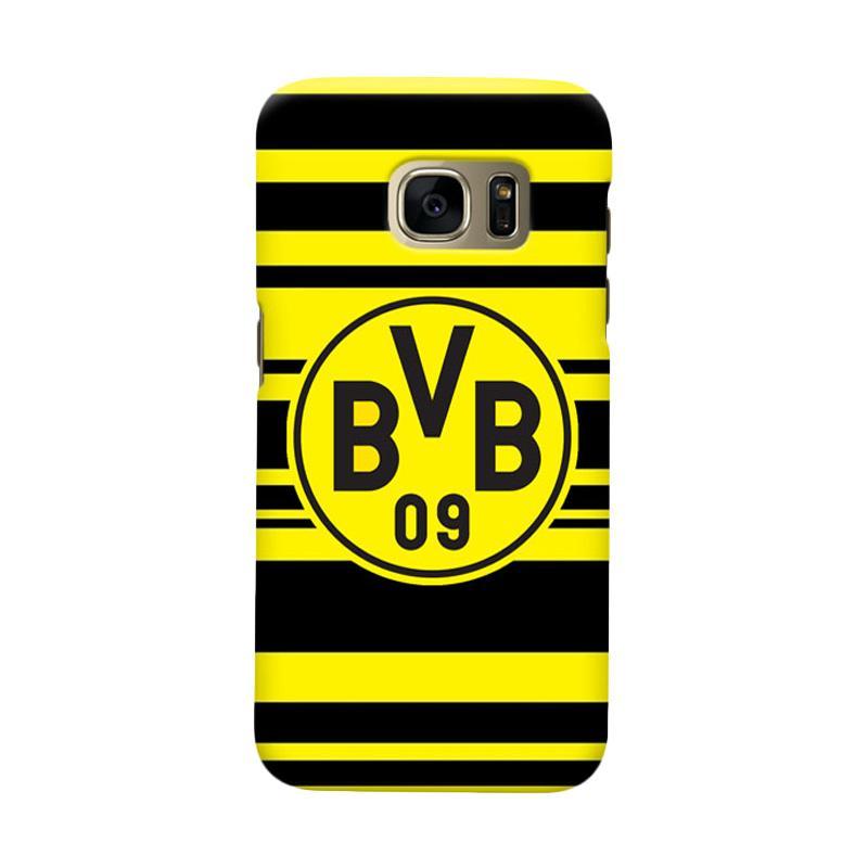Indocustomcase BVB Borussia Dortmund Stripe Cover Casing for Samsung Galaxy S6 Edge