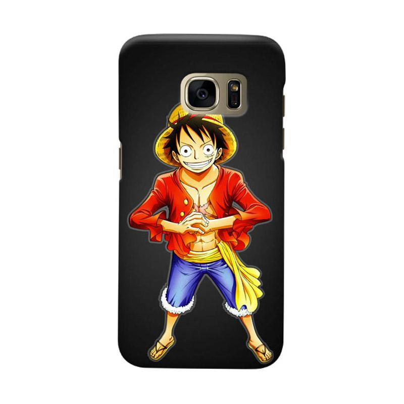 Indocustomcase Anime One Piece Character OP05 Luffy Cover Casing for Samsung Galaxy S6 Edge